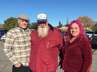 Charlie, Paul Sr., and Suzette at Bernie's 1 Year Anniversary Catholic Mass, Dec 18, 2015
