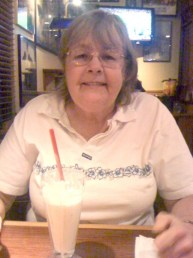 Bernadette with Milkshake, her favorite