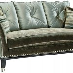 Modern Style Sofa With Contrasting Tufted Back Cushions