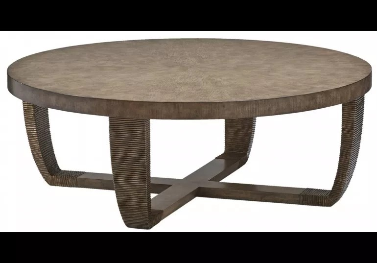 round wooden coffee table from our modern dakota collection