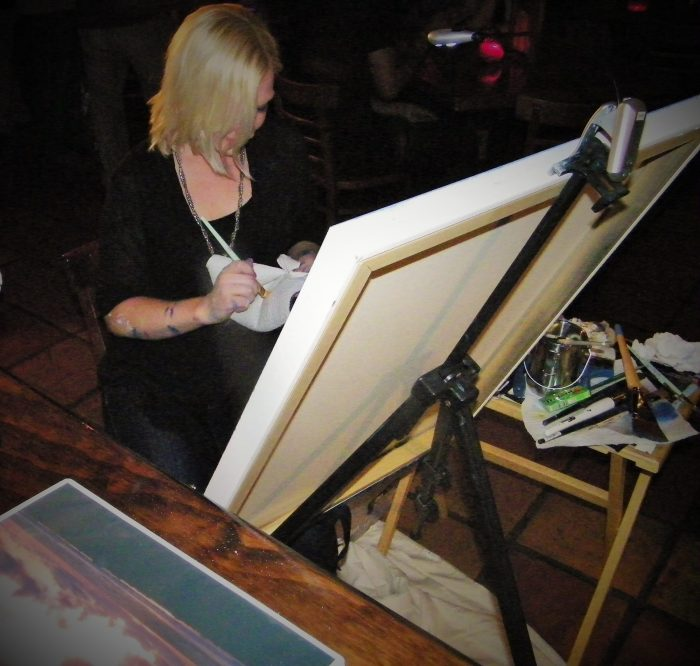 Painting at a Live Art Show