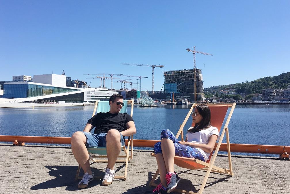 Oslo'da güneşlenme keyfi :)