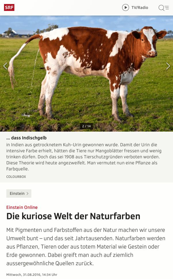 Screenshot Artikel Naturfarben