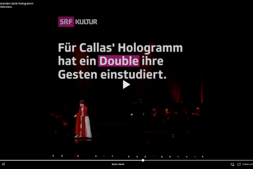 Screenshot Webvideo Callas Hologramm