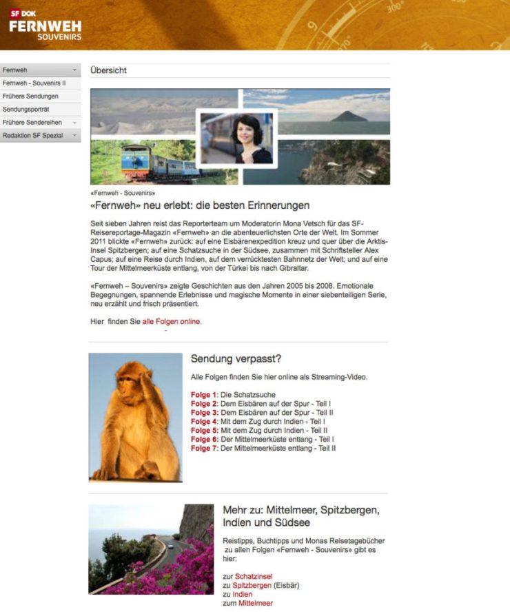 Screenshot Webseite Fernweh 11