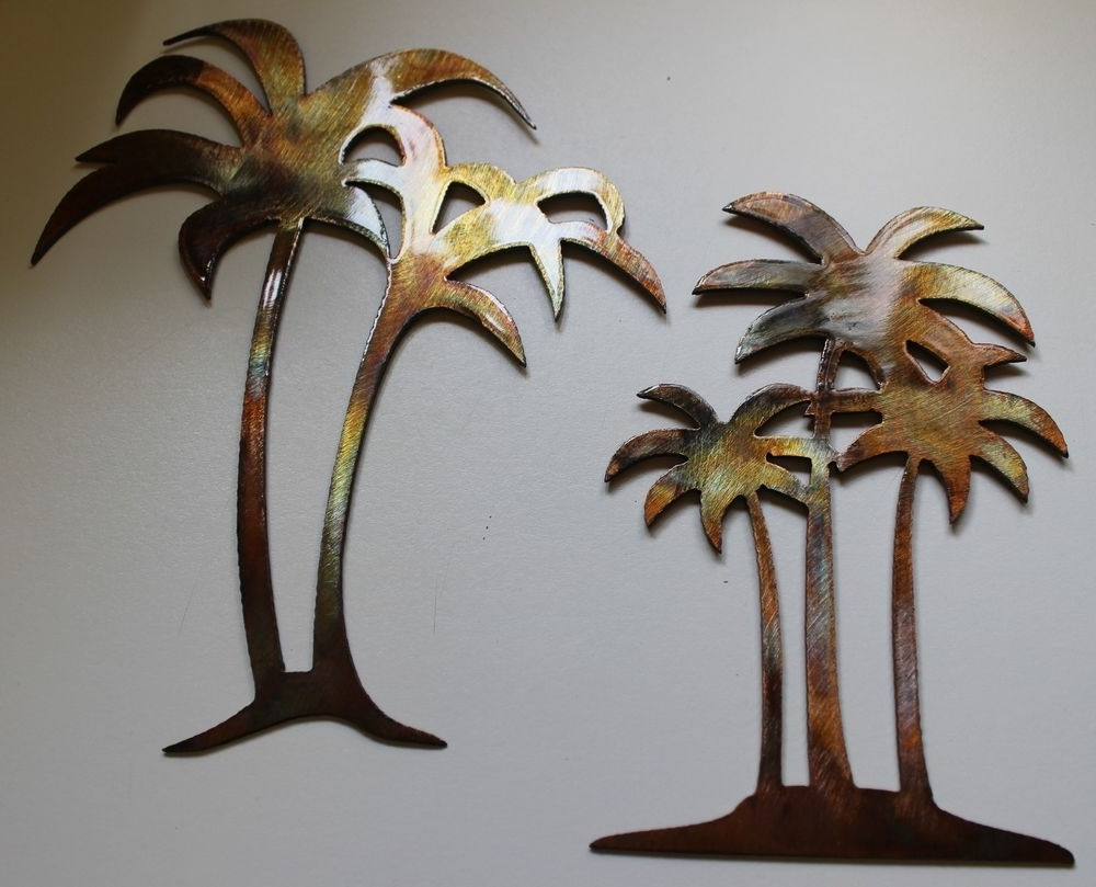 15 Collection Of Palm Tree Metal Wall Art