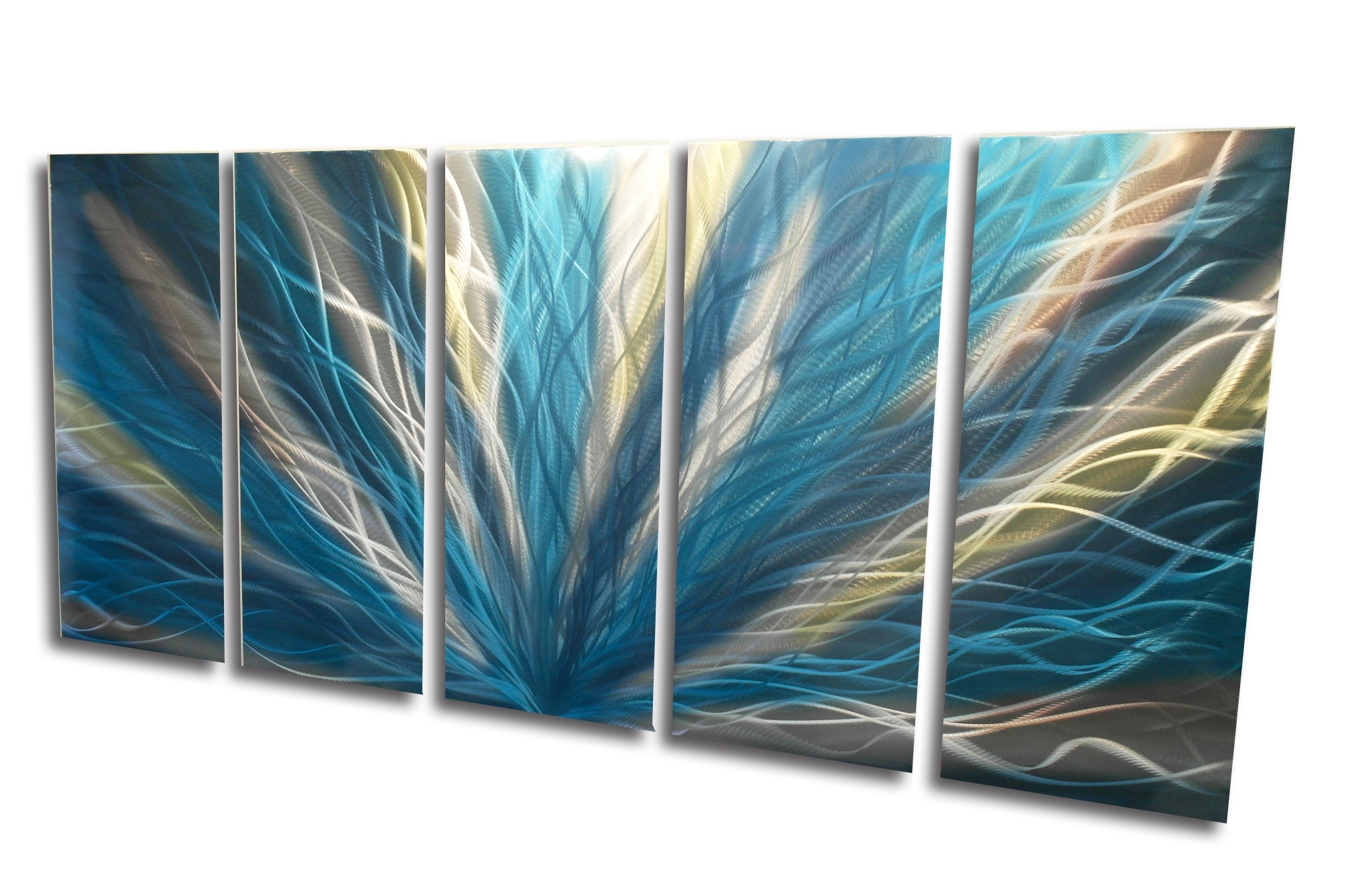 15 Photos Abstract Leaf Metal Wall Art