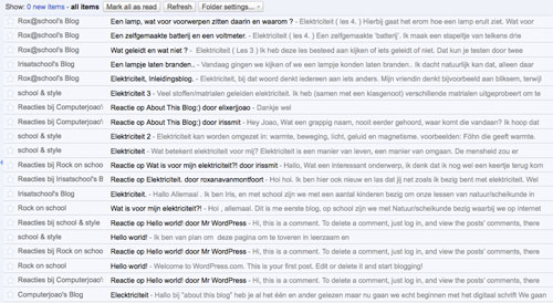 Google reader RSS-feed