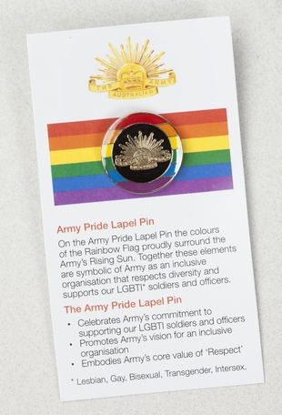 Army Pride Lapel and Cufflinks