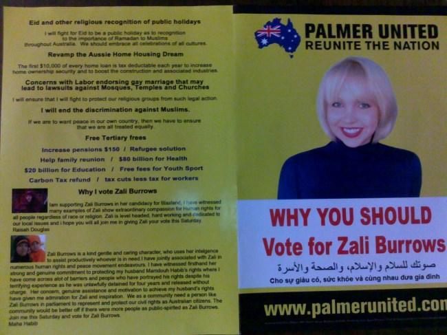 Zali Burrows leaflet 1