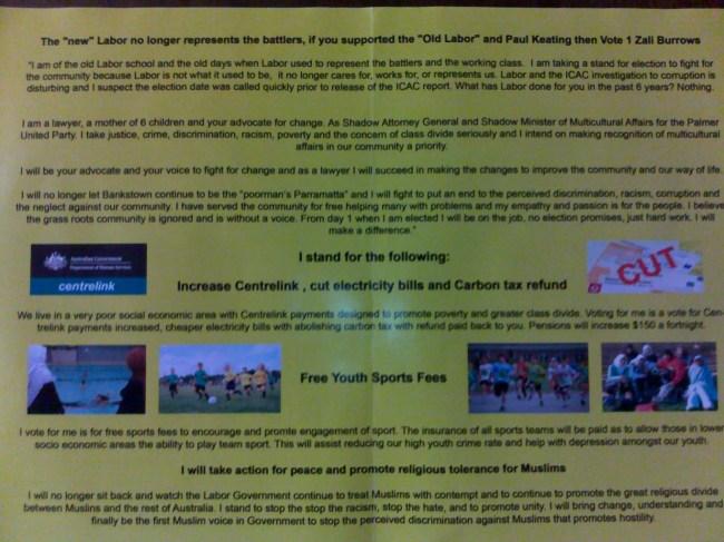 Zali Burrows leaflet 2