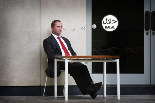 Barnaby Joyce halal thought bubble