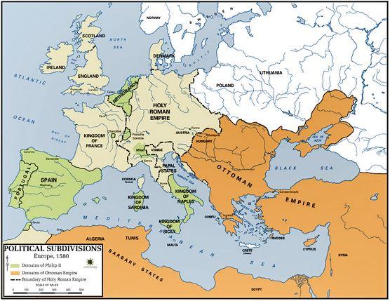 Europe 1580