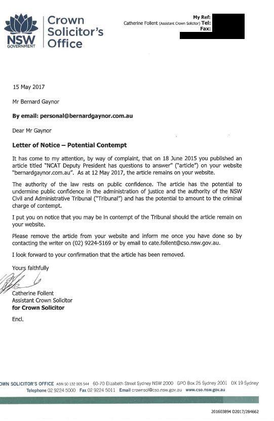 CSO Letter