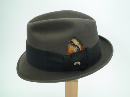 Champ Hats Feel The Felt Kasmir Finish Grey Fur Felt Fedora Hat