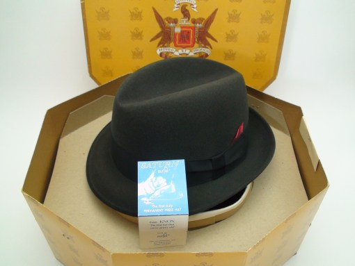 Knox New York Black Saturn of Surfel Fedora Hat