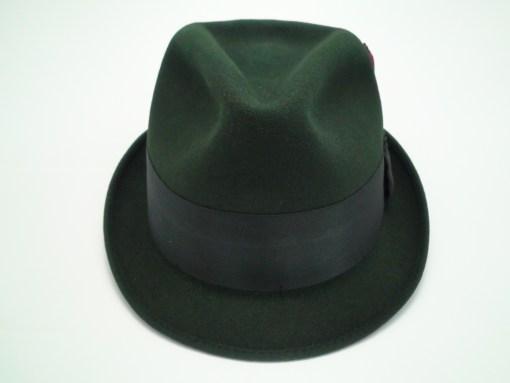 Adam Fifth Avenue New York Black Fur Felt Fedora Trilby Hat