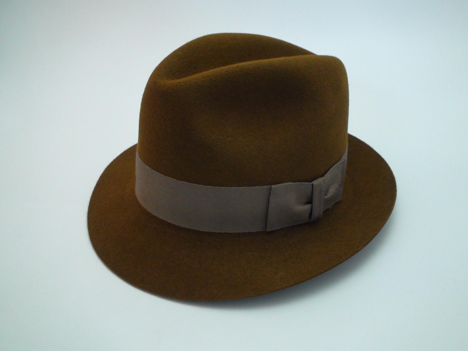 92738d8c6 Smithbilt Hats Knight Chocolate Brown Fur Felt Fedora Hat