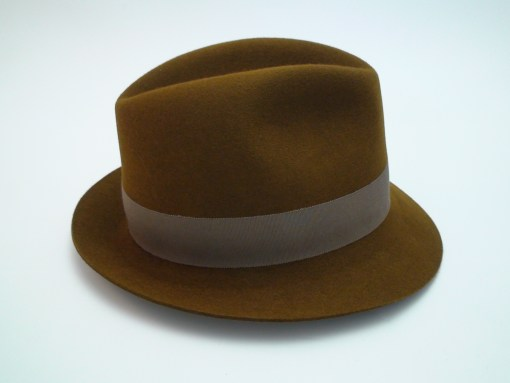 Smithbilt Hats Knight Chocolate Brown 100% Fur Felt Fedora Hat