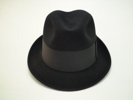 Champ Hats Kasmir Finish Black Fur Felt Trilby Fedora Hat