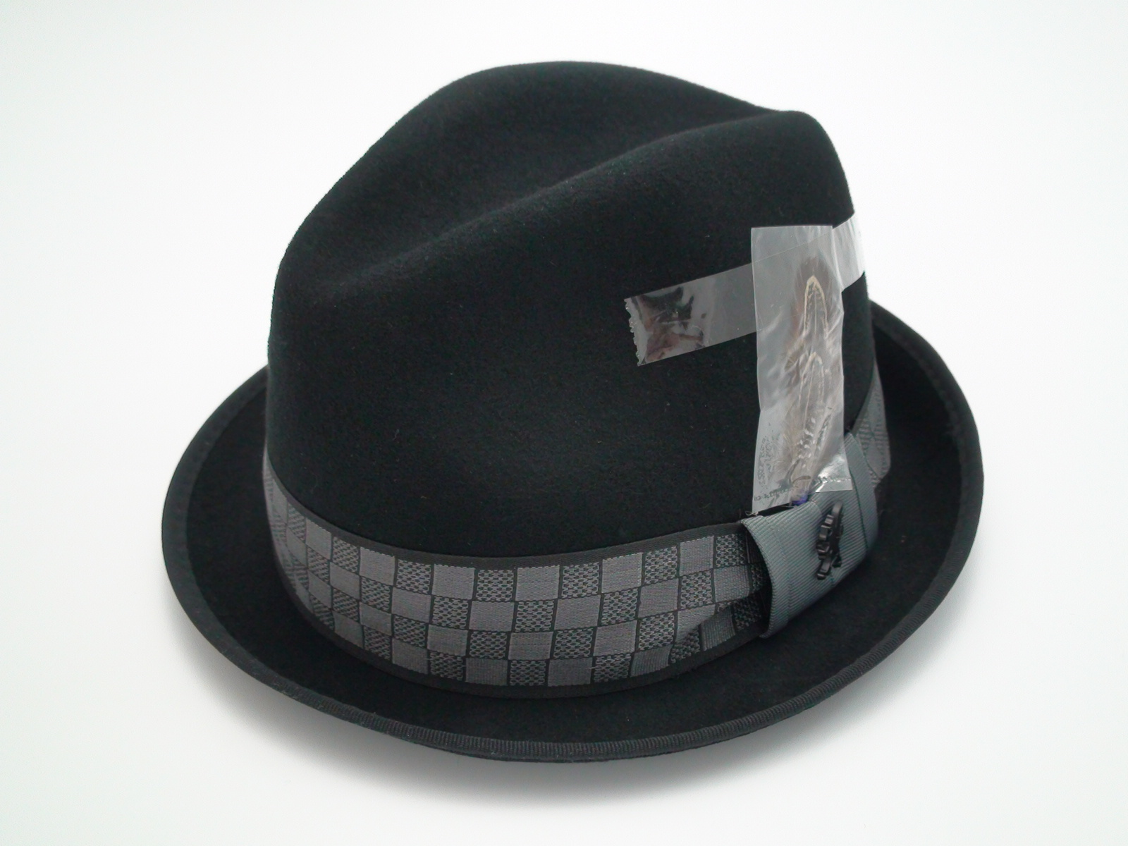 NEW Stacy Adams Fedora Crushable Black Wool Stingy Brim Trilby Hat Size 7  1 8 (M) cbec3e14c2f