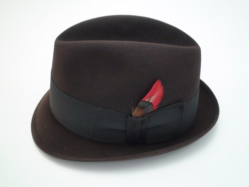 Vintage Resistol 3X Beaver Kitten Finish Dark Brown Fedora Hat