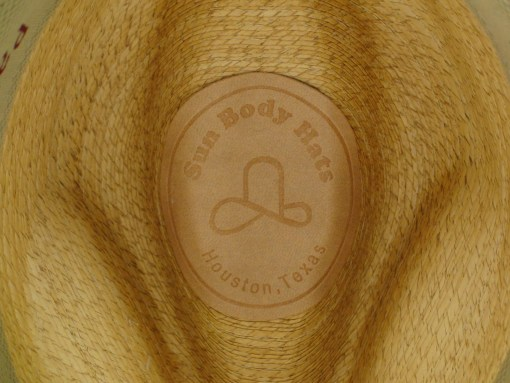 New SunBody Hats Fine Mexican Palm Golden Fedora Hat