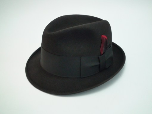 Knox New York Fedora Black Fur Felt Hat