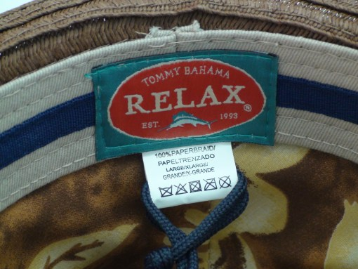 Tommy Bahama Relax Dark Brown Lazy Bohemian Mens Fedora Beach Hat