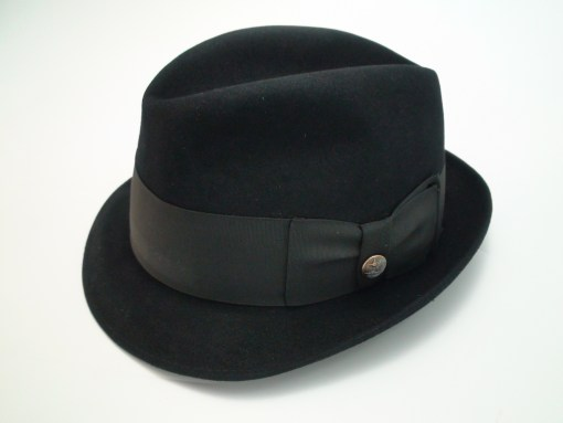 Adam Fifth Avenue Premier Black Fur Felt Fedora Hat