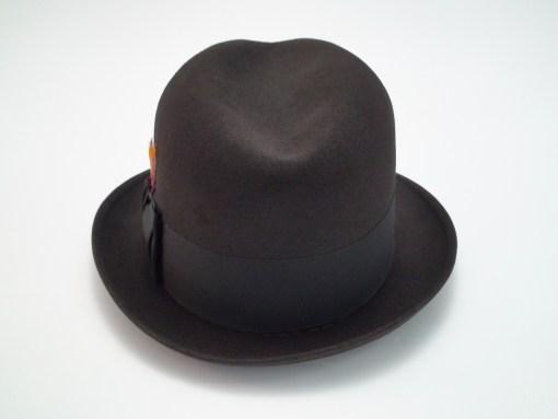 Knox New York Twenty Chocolate Brown Fur Felt Fedora Hat