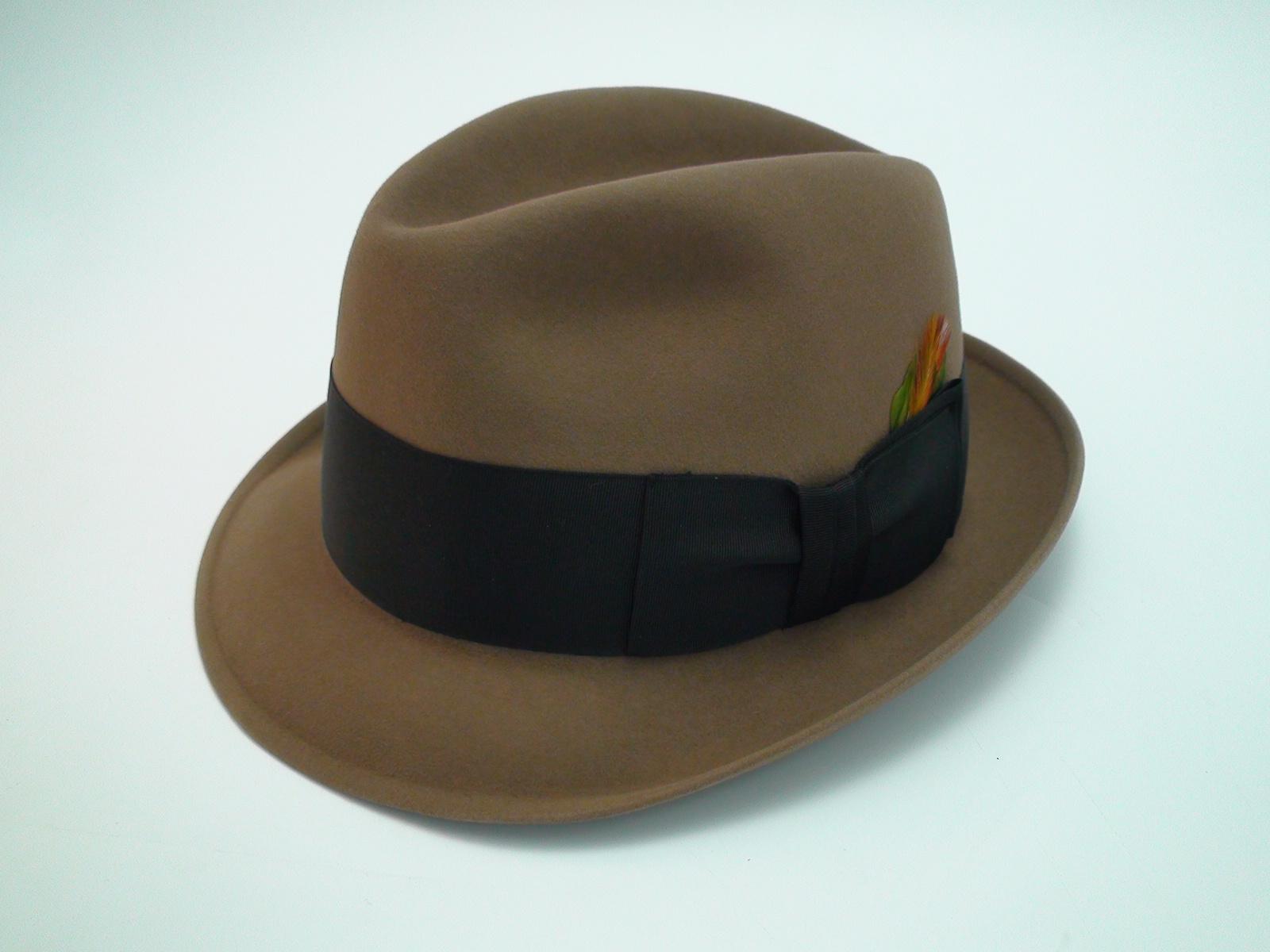 e1b9bfbe947 Resistol Self Conforming 3X Beaver Kitten Finish Beige Fedora Hat