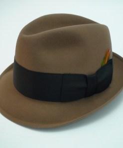 Resistol Self Conforming 3X Beaver Kitten Finish Beige Fedora Hat