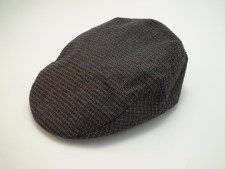 Stetson Wool Tweed Brown Newsboy Golf Driving Flat Cap