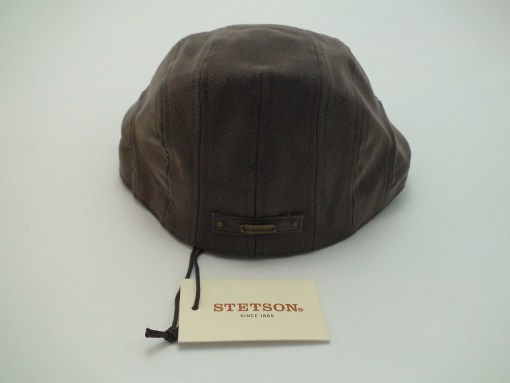 Stetson Ivy Cap Brown Cotton Blend Golf Newsboy Flat Cap