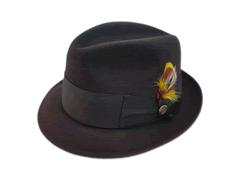 Beaver Brand Hats 100% Pure Beaver Dark Brown Fedora Hat