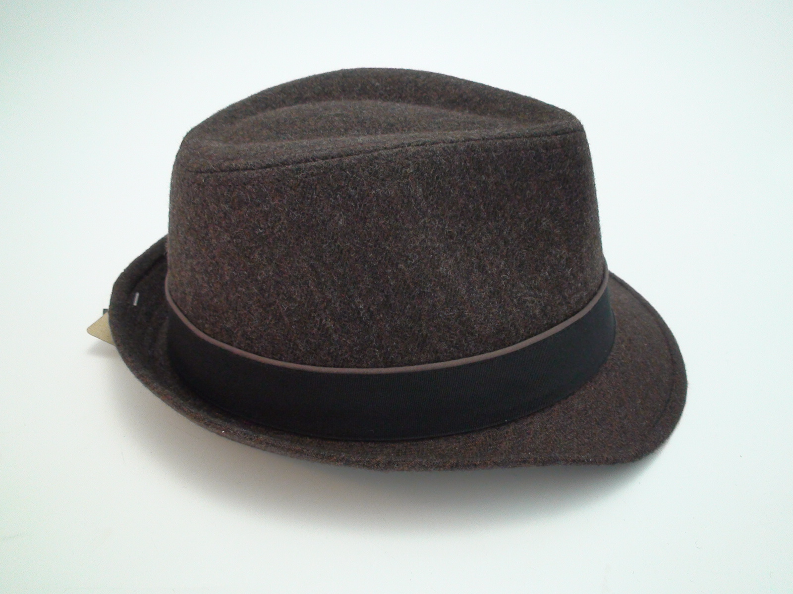c282a8ba465dc Stetson Herringbone Fedora Brown Wool Blend Trilby Hat