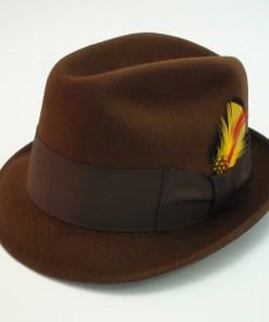 Beaver Brand Hats Brown Imported Coney Fur Felt Fedora Hat