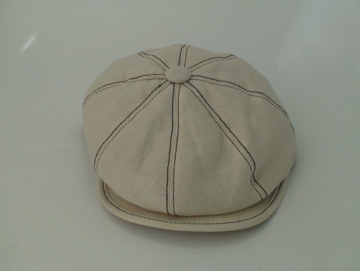 Stetson 8 Panel Uptown Beige Linen Cotton Blend Newsboy Cap