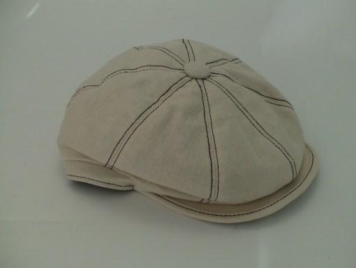 Stetson 8 Panel Uptown Beige Linen Cotton Blend Newsboy Cap