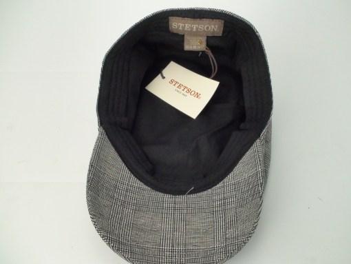 Stetson Ivy Grey Plaid 100% Cotton Newsboy Golf Driving Flat Cap