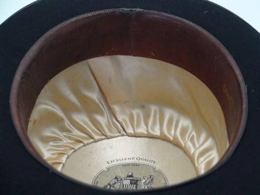 Stetson Black Fur Felt Bowler Derby Hat