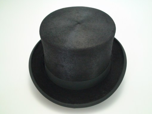 Christys London Handmade 100% Fine Fur Felt Black Dressage Top Hat