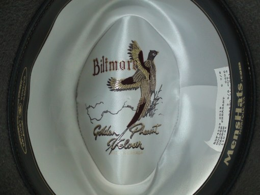 Biltmore Golden Pheasant Carbon Grey Fur Felt Homburg Fedora Hat