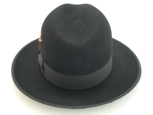 Beaver Brand Hats 5x Fur Felt Black Ribbon Edge Fedora Hat
