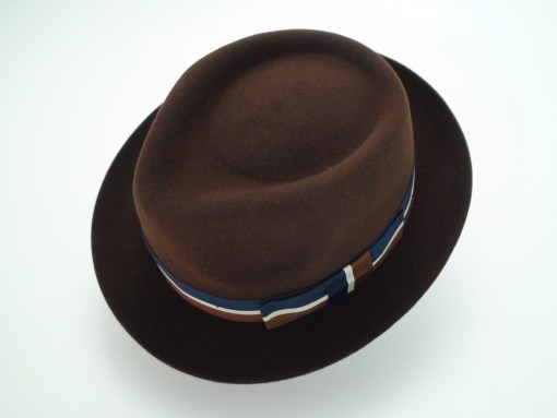 Christys Crown Brown Fine Fur Felt Stingy Brim Fedora Hat