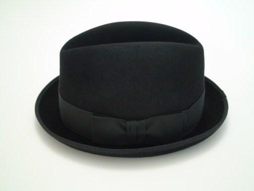 Christys Crown Fedora Black Hand Made 100% Fine Fur Felt Hat