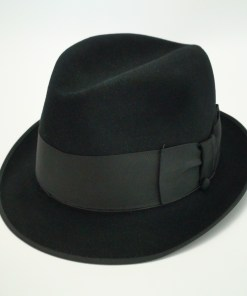 Byron New York Kasmir Finish Black Ribbon Edge Fedora Hat