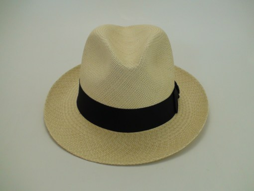 Biltmore Hats GP Excello Natural Panama Snap Brim Fedora Hat