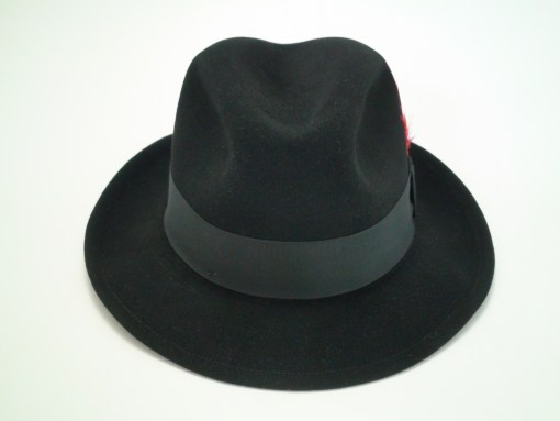 Biltmore Hats Royal Black Fine Fur Felt Fedora Hat